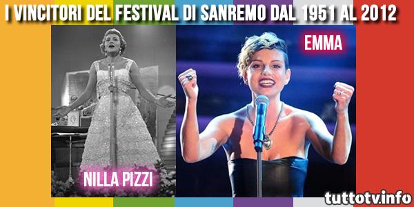 vincitori-festival-sanremo-dal-1951-al-2012