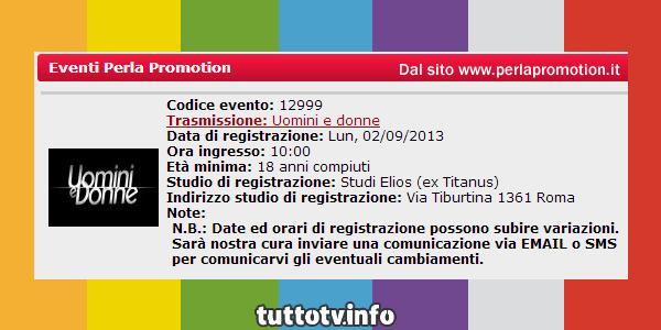 registrazione_uomini-e-donne_settembre_2013