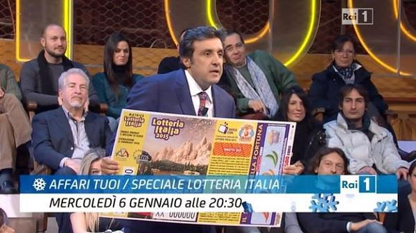 Ascolti Tv mercoledì 6 gennaio 2016. Quasi 5,5 mln per la Lotteria Italia