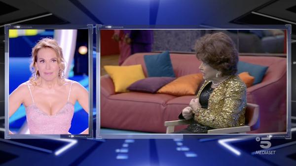 Barbara d'Urso e Gina Lollobrigida
